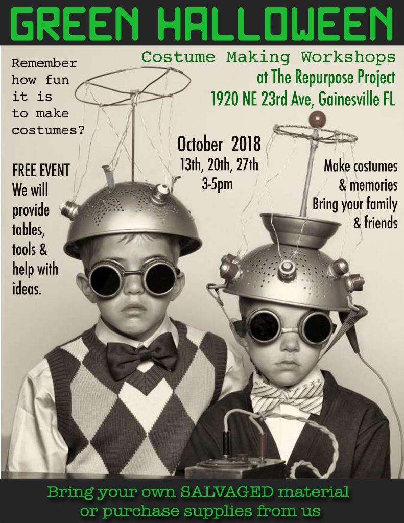 make your halloween costume with salvaged materials at the repurpose project!